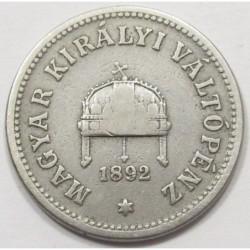 10 fillér 1892