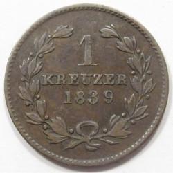 1 kreuzer 1839 - Baden