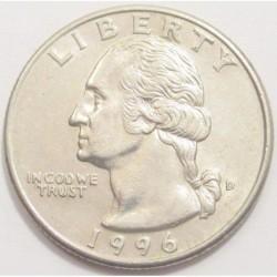 quarter dollar 1996 D