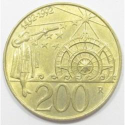 200 lire 1992 - Discovering America