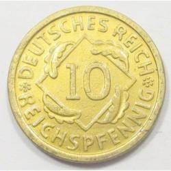 10 reichspfennig 1936 D
