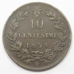 10 centesimi 1894 BI
