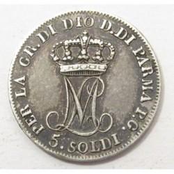 5 soldi 1815 Maria Luigia - Parma
