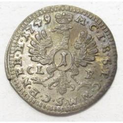 Friedrich 1 kreuzer 1749 CLR - Bayreuth