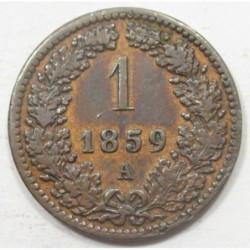 1 kreuzer 1859 A