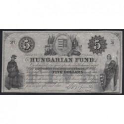 5 dollars 1852