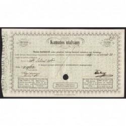 100 forint 1849 - Kamatos utalvány