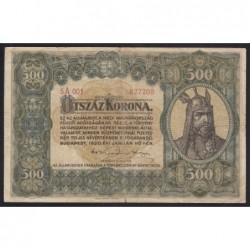 500 korona 1920