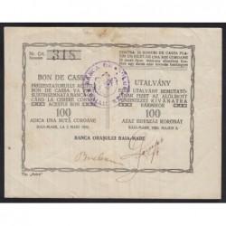 100 korona 1920 - Nagybánya