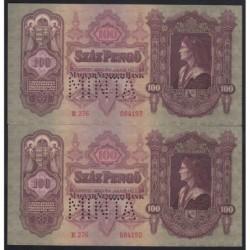 100 pengő 1930 - MINTA Sorszámkövető