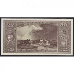 50 pengő 1945 - Hátlapi fázisnyomat