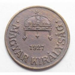 1 fillér 1927