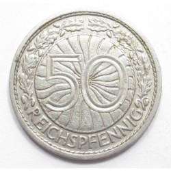 50 reichspfennig 1930 A