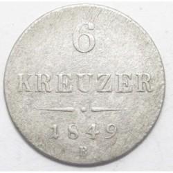 6 kreuzer 1849 B