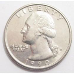 quarter dollar 1990 D