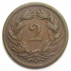 2 rappen 1890