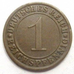 1 reichspfennig 1931 G