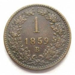 1 kreuzer 1859 B