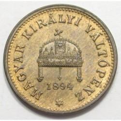 1 fillér 1894