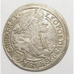 Leopold I. 3 kreuzer 1698 IA - Graz