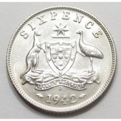 6 pence 1942 D