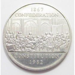 1 dollar 1982 - Constitutional Acts of 1867 and 1982