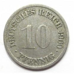 10 pfennig 1900 G