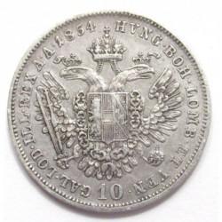10 kreuzer 1854 A