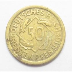 50 rentenpfennig 1924 J