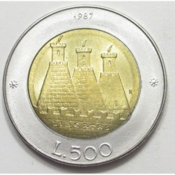 500 lire 1987 - City coat of arms