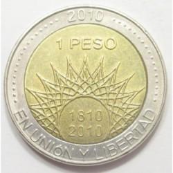 1 peso 2010 - Argentina 200 years old - El Palmar