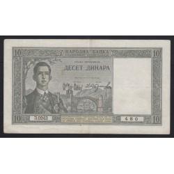10 dinara 1939