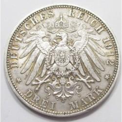 3 mark 1912 D - Bavaria