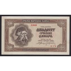 20 dinara 1941