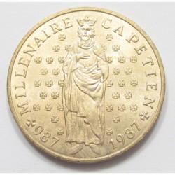 10 francs 1987 - 1000th Anniversary of King Hugh Capet