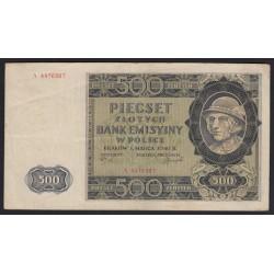 500 zlotych 1940