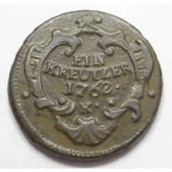 Maria Theresia 1 kreuzer 1762 K