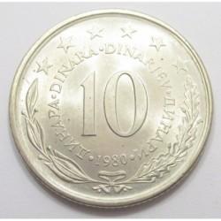 10 dinara 1980
