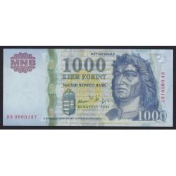 1000 forint 2005 - LOW SERIAL