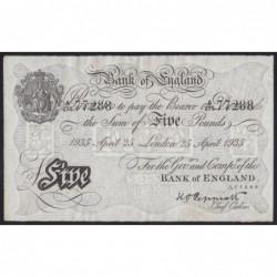 5 pounds 1935 - Benhard mûvelet