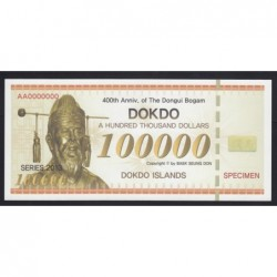 100.000 dollars 2013 SPECIMEN - Dokdo-szigetek