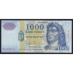 1000 forint 1999 DC - LOW SERIAL