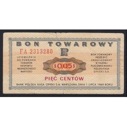 0,05 centow bon 1969