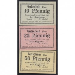 10-25-50 pfennig 1920 - Bischofwerder