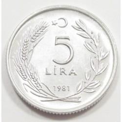 5 lira 1981