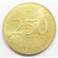 250 livres 2012