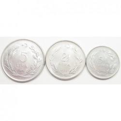 turkey coin set 1974-1978