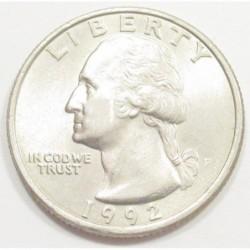quarter dollar 1992 P