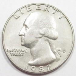 quarter dollar 1982 P