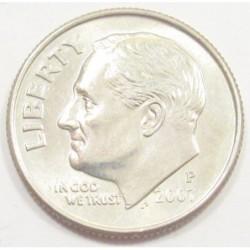one dime 2007 P